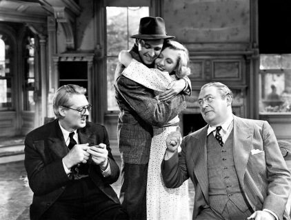 lionel barrymore, james stewart, jean arthur & edward arnold - you can't take it with you 1938